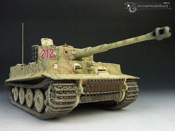 Picture of Tiger I Tank Number 212 Built & Painted 1/35 Model Kit