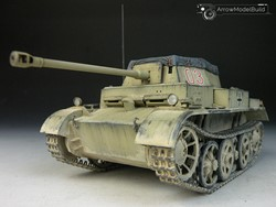 Picture of Panzer II Tank Ausf. H Built & Painted 1/35 Model Kit