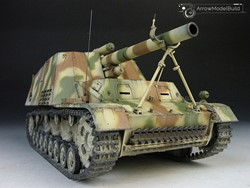 Picture of SdKfz 165 Hummel Tank Built & Painted 1/35 Model Kit
