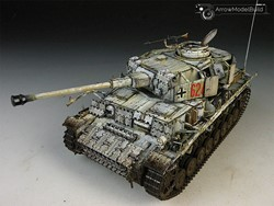 Picture of Panzer IV Tank (On the Snow) Built & Painted 1/35 Model Kit