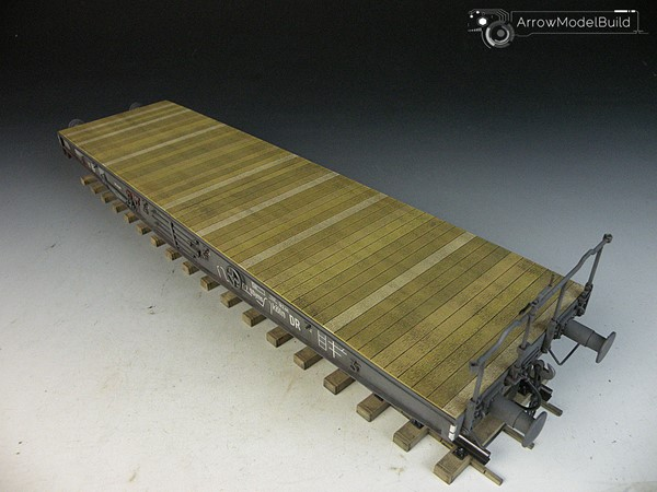 Picture of German Railway Schwerer Plattformwagen Type SSys Built & Painted 1/35 Model Kit