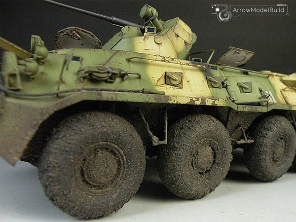 Picture of BTR-80A Military Vehicle Built & Painted 1/35 Model Kit