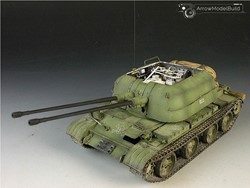 Picture of ZSU-57-2 Anti-Aircraft Gun Built & Painted 1/35 Model Kit