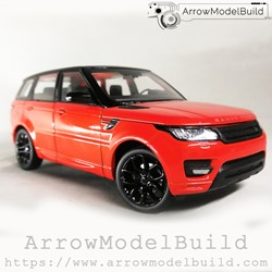 Picture of ArrowModelBuild Land Rover Custom Color (Lanyun Orange) Black Wheel Edition 1/24 Model Kit
