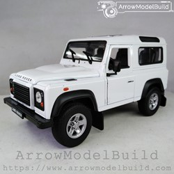 Picture of ArrowModelBuild Land Rover Custom Color (Guardian White) Without Luggage Rack 1/24 Model Kit