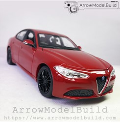 Picture of ArrrowModelBuild Alfa Romeo Juliet (Racing Red) Red and Black Wheels Edition 1/24 Model Kit