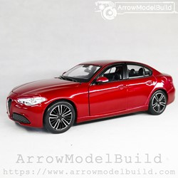 Picture of ArrrowModelBuild Alfa Romeo Juliet (Racing Red) Wheels Refined Version 1/24 Model Kit