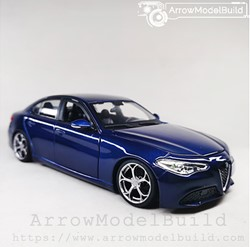 Picture of ArrrowModelBuild Alfa Romeo Juliet (Monte Carlo Blue) Four-Leaf Clover Wheel Edition 1/24 Model Kit