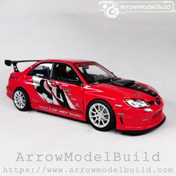Picture of ArrowModelBuild Subaru Impreza APR Racing Performance Orginal Red and Silver Wheel Version 1/24 Model Kit
